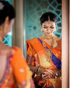 We bet these South Indian brides of 2019 will give everyone the chills, don't you think so? These brides always take our breath away. South Indian Makeup, South Indian Bridal Jewellery, South Indian Weddings, Indian Bridal Makeup, South Indian Bride, Wedding Jewelry, Bridal Makeup Looks, Bridal Looks, Wedding Makeup