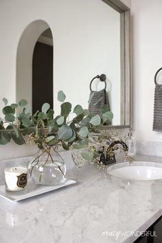 Crazy Wonderful: framed bathroom mirror... 1x2inch pine!