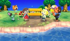 Animal Crossing: New Leaf Diary, Day 5: My yellow bench project was complete today, apparently it's a real cause for celebration! After this I visited the Island, which I'm crazy for. I loved it so much I got too sucked in to remember to take a photo!
