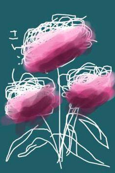 Iphone-drawing van David Hockney