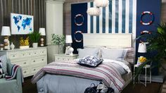 A cozy + nautical bedroom inspired by houseboats