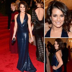Lea Michele at Met Gala 2012 Just AMAZING. Love the Diamond necklace...finishes the look. Glamorous!