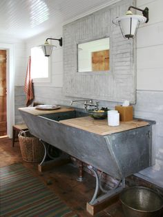 20 Upcycled and One-of-a-Kind Bathroom Vanities | DIY Bathroom Ideas - Vanities, Cabinets, Mirrors & More | DIY