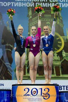 Swedish gymnast Jonna Adlerteg won the silver medal on the European championship 2013!