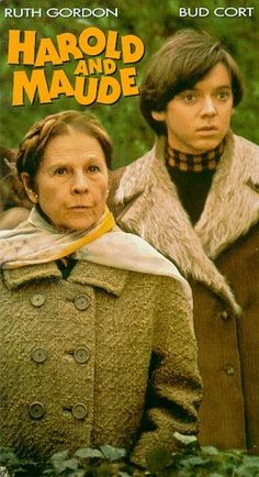 Harold and Maude: The classic cult film that features one of the screen's most unlikely pairs featuring Ruth Gordon and Bud Cort. Cat Stevens provides and uplifting score. Cinema Art, Films Cinema, I Love Cinema, Sean Penn, Great Films, Good Movies, Girly Movies, Excellent Movies, Amazing Movies