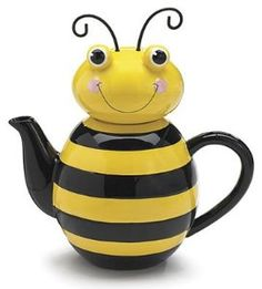 Amazon.com: Honey Bee Ceramic Teapot Kitchen Home Decor Bug Bumble: Kitchen & Dining