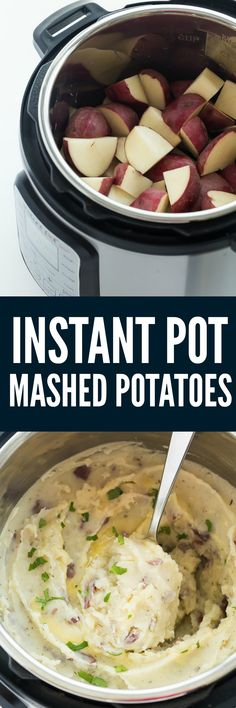 These Instant Pot Mashed Potatoes are an easy side dish for any holiday or weeknight dinner! They are creamy and flavourful and come together so quickly!