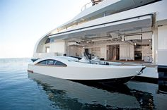Palladium Superyacht View Of Tender Forward View