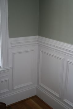 Wainscoting ....~Allen did this in my dining room, it looks amazing with the top of the walls navy blue