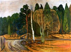 Spring Landscape with Snow Plough Edvard Munch - 1901