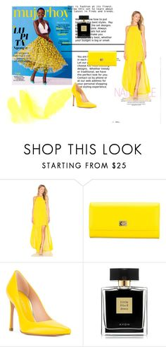 """""""yellow"""" by dzans ❤ liked on Polyvore featuring beauty, Show Me Your Mumu, Dolce&Gabbana, Stuart Weitzman and Avon"""
