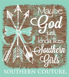 SC Comfort God likes Southern Girls - Chalky Mint