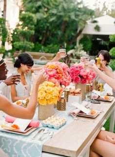 Vibrant colors for a spring or summer party.......