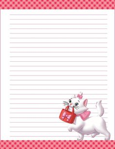 papier a lettre Printable Lined Paper, Free Printable Stationery, Journal Paper, Journal Cards, Diy Paper, Paper Crafts, Hello Kitty, Art Carte, Notebook Paper