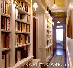 i also like the idea of having built in bookcases in the hallway upstairs where the bedrooms would be