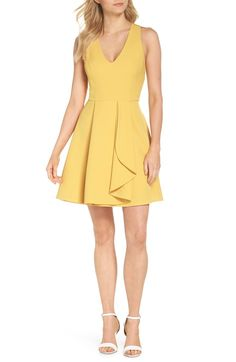 Sleeveless Shirtdress Main Color Yellow Maize Summer