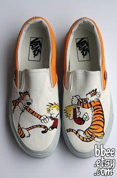 BBEE shoes. Calvin and Hobbes shoes