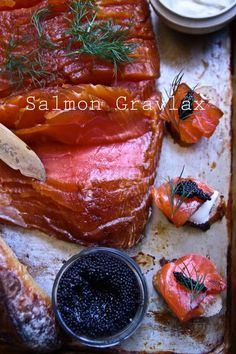 Made From Scratch: Cured Salmon Gravlax and caviar with homemade creme fraische a Gravlax Salmon Recipe, Cured Salmon Recipe, Fish Recipes, Seafood Recipes, Cooking Recipes, Healthy Recipes, Pickeling Recipes, Smoker Recipes, Recipies