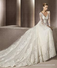 Wedding dress long sleeves 2013