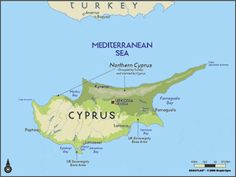 A map by EGLLC Maps, the Cyprus wall mural from Murals Your Way will add a distinctive touch to any room. Cyprus Island, European Map, North Cyprus, Murals Your Way, Limassol, The Beautiful Country, Mediterranean Sea, Travel Memories, Europe