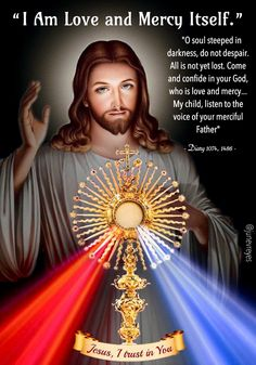 Faustina help us understand the mystery of Jesus Divine Mercy and unfathomable Love. Divine Mercy Novena, Divine Mercy Sunday, Miséricorde Divine, Divine Mercy Image, Jesus Our Savior, God Jesus, Catholic Prayers, Devine Mercy, Image Jesus