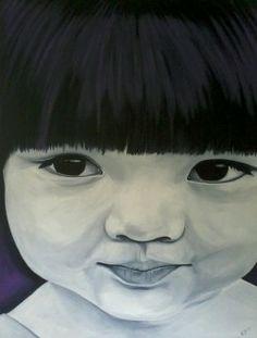 schilderij portret wereldkind