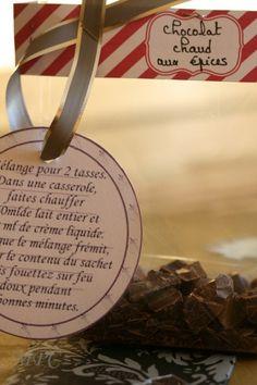 Mélange pour chocolat chaud + vanille + épices