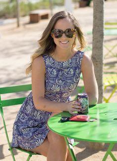 Leah Duncan Blue Print Dress | Suede Booties