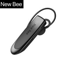 New Bee Hands-free Wireless Bluetooth Earphone Bluetooth Headset Headphones Earbud with Microphone Earphone Case for Phone PC(China (Mainland))