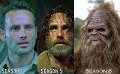 Rick from The Walking Dead season 1, season 2 and season 8 photo!