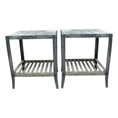 Pair of Two-Tired Zinc Side Tables - $1,400