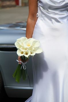 Beautiful Bridal Bouquet of Arum Lilies