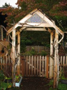 great front gate arbor