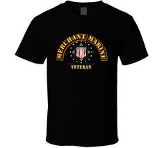 Merchant Marine w Seal - Black via Military Insignia Clothing and Products. Click on the image to see more!