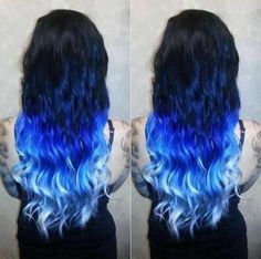 balayage hair blonde 27 Ideas for hair extensions before and after ombre dip dye - Best Hair Dye, Best Ombre Hair, Brown Ombre Hair, Black To Blue Ombre, Purple Ombre, Dyed Hair Purple, Dyed Hair Pastel, Blue Dip Dye Hair, Hair Extensions Before And After