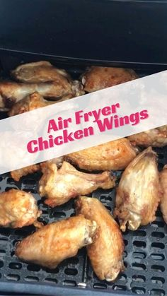 Chicken Wing Recipes, Healthy Chicken Recipes, Healthy Breakfast Recipes, Clean Recipes, Real Food Recipes, Cooking Recipes, Air Fryer Chicken Wings, Chicken Appetizers, Healthy Family Meals