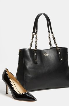 Wardrobe Essentials: Classic black Kate Spade tote + pumps