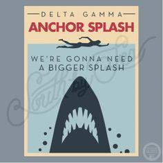 Delta Gamma | Anchor Splash | Shark Week | We're Gonna Need a Bigger Splash | Philanthropy | Vintage Design | South by Sea | Greek Tee Shirts | Greek Tank Tops | Custom Apparel Design | Custom Greek Apparel | Sorority Tee Shirts | Sorority Tanks | Sorority Shirt Designs