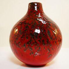 West German Pottery Mid Century Modernist Vase by Wächtersbach in best condition