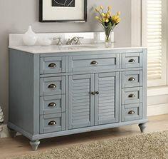 "Glennville 49"" Cottage Bathroom Vanity Cabinet Set in Lig... https://www.amazon.com/dp/B010TMT7DO/ref=cm_sw_r_pi_dp_Rv8Ixb7KJS2MS"