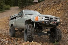 1985 Toyota Pickup Diesel McFly - Four Wheeler Overland Truck, Crate Engines, Shop Truck, Cummins Diesel, Four Wheelers, Roof Top Tent, Transfer Case, Toyota Hilux, Pickup Trucks