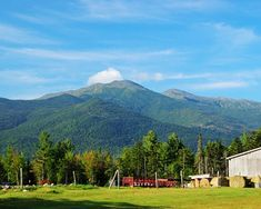The White Mountains in New Hampshire.  The tallest mountain in the NE is Mount Washington which is 6,288 feet.  it is known for extreme weather and the fastest winds in the world.