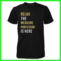 Relax The Medicine Professor Is Here. Funny Gift - Unisex Tshirt Black 5XL - Careers professions shirts (*Amazon Partner-Link)