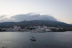 Clouds over Batsi - Clouds over Batsi, Andros Island, Greece.