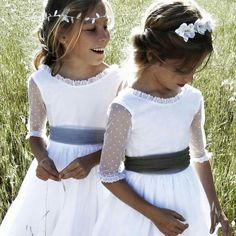 Waiting for the bride. Don't forget to thank your little helpers on the day with a gift from the Molly Brown London Bridesmaid Jewellery Collections Little Girl Dresses, Flower Girl Dresses, Flower Girls, Baptism Dress, Communion Dresses, Wedding With Kids, Kind Mode, My Girl, Doll Clothes