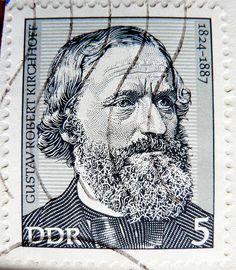 stamp DDR 5pf portrait Gustav Robert Kirchhoff, physicist 1824-1887 GDR Deutsche Demokratische Republik