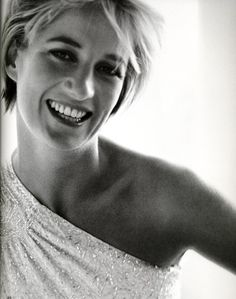 1997: Princess Diana portrait/photocall by Mario Testino. One of a series of photoshoots in different outfits.