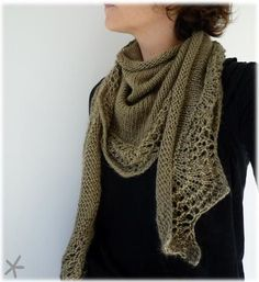 Scalloped shawl and a FREE PATTERN in English to download from this French blog site