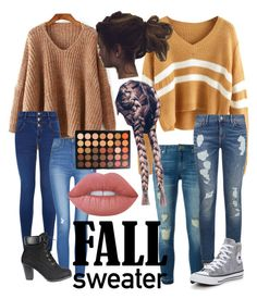 """""""Untitled #10"""" by red213panda on Polyvore featuring MICHAEL Michael Kors, Tommy Hilfiger, New Look, Converse, Lime Crime and Morphe"""