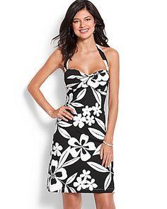 f1f88c67ed Tommy Bahama - Hawaii Floral Halter Spa Dress